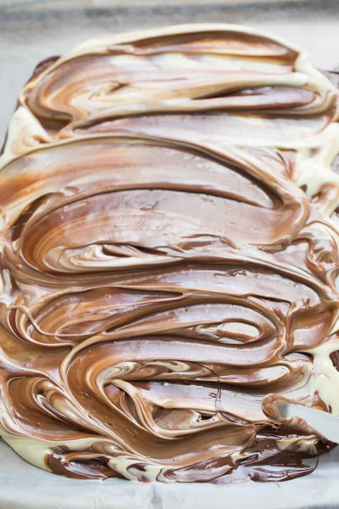 Peanut butter makes this chocolate bark extra good! You have to try it!