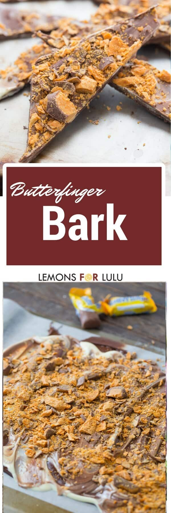 Find some Butterfingers quick! You are going to want to try this easy recipe! Lots of chocolate and candy!