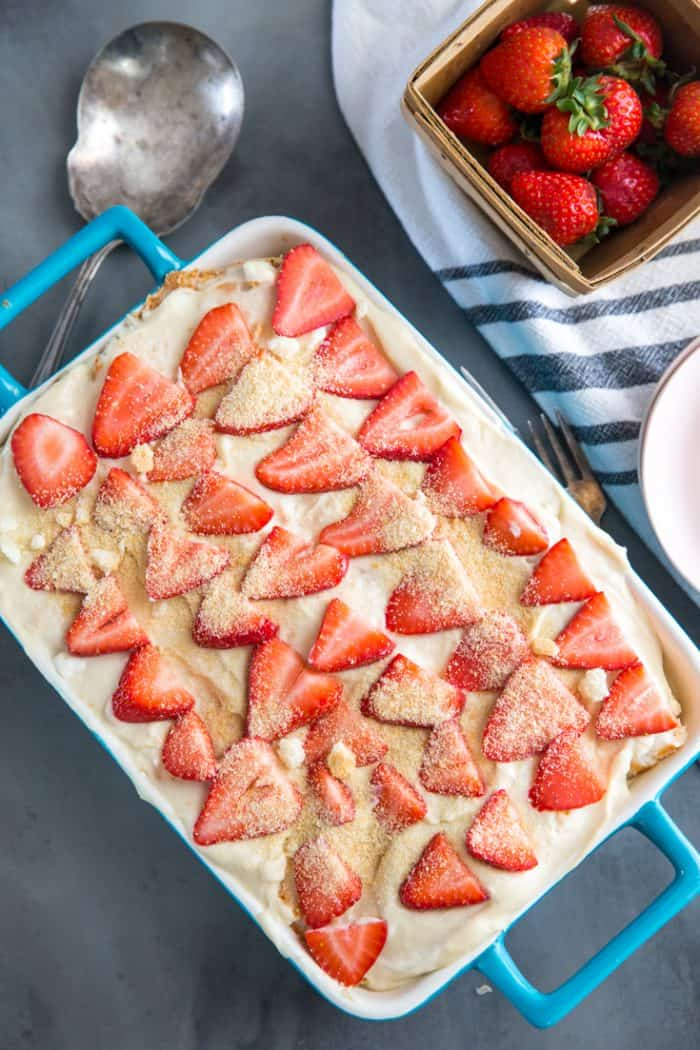 Strawberry Tiramisu whole