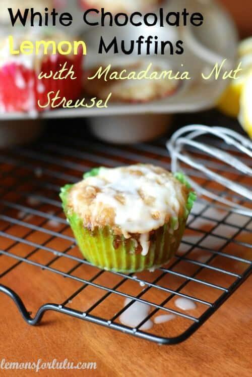 White Chocolate Chip Lemon Muffins