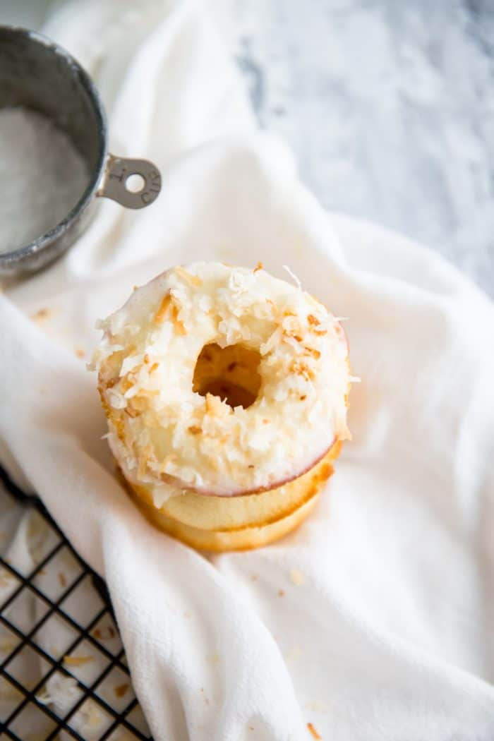 stack of baked donut recipe