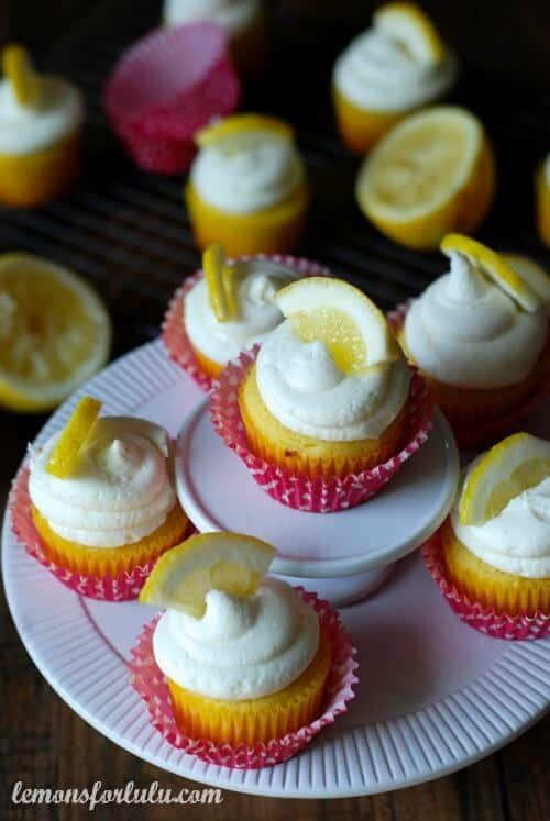 Lemon Cupcakes with White Chocolate Buttercream