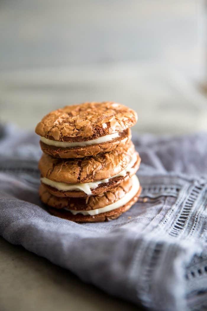 Sandwich cookies stack