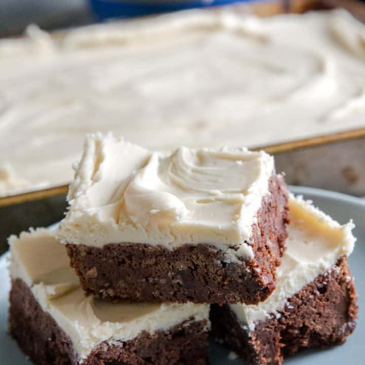 Bailey's brownies close up