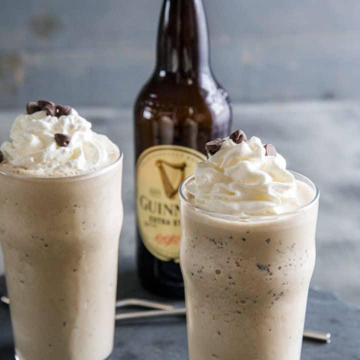 Guinness milkshake two glasses