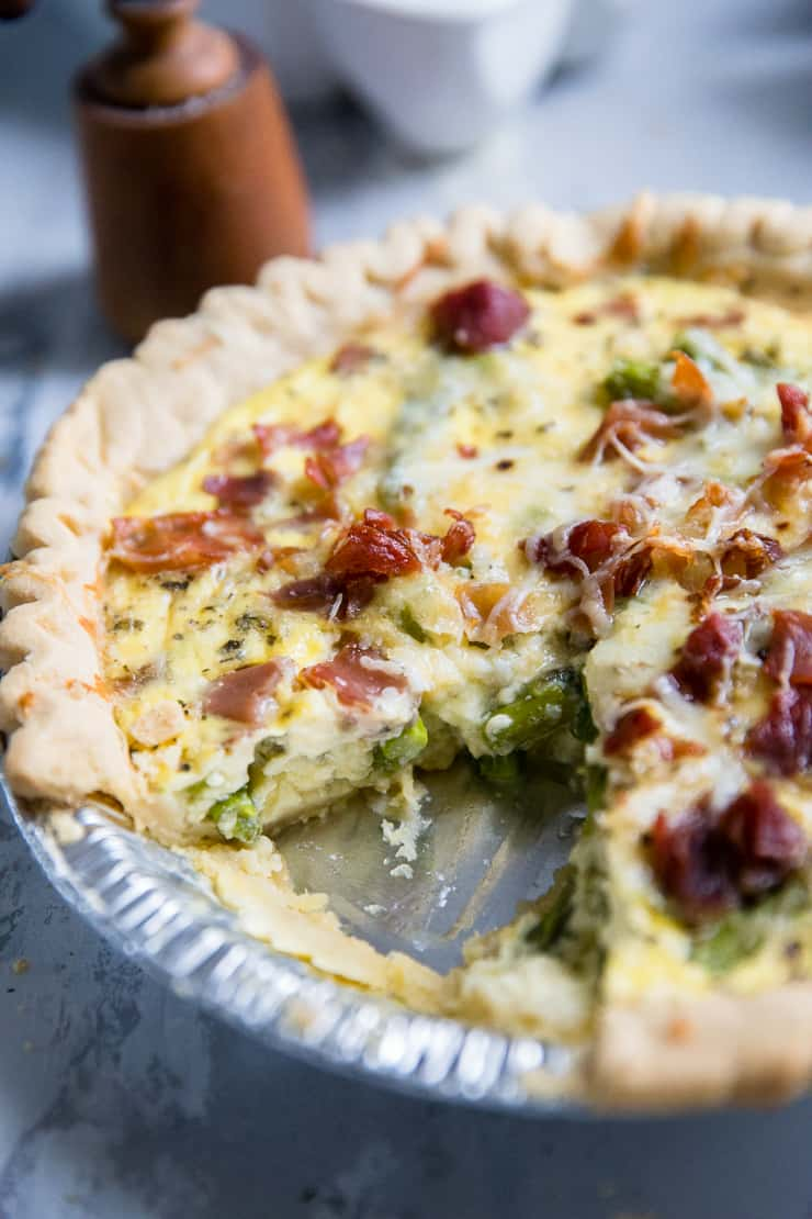 easy quiche recipe with asparagus