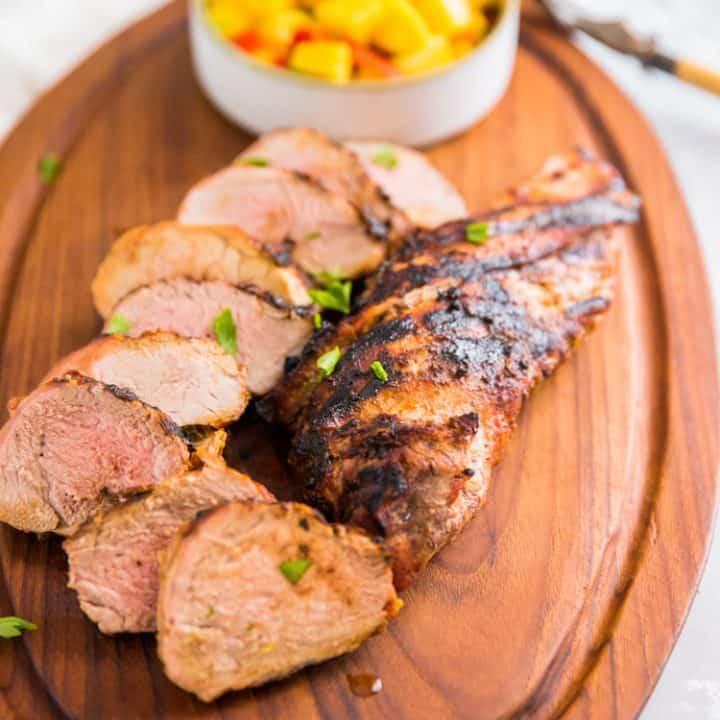 two grilled pork tenderloin