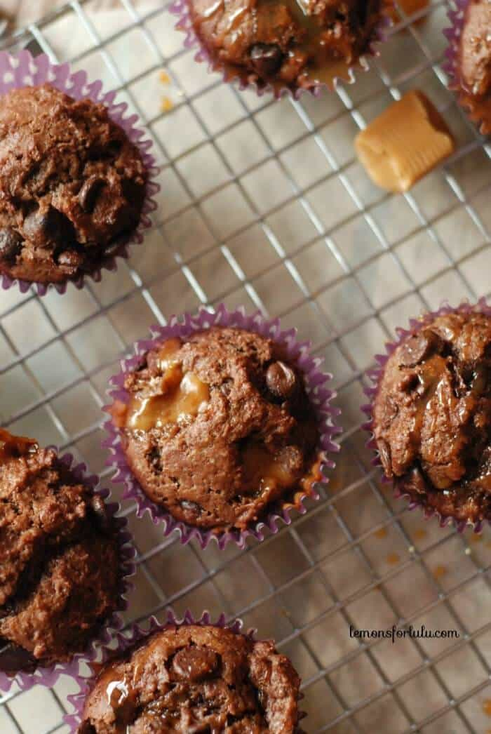 Caramel macchiato in a little chocolate muffin! www.lemonsforlulu.com