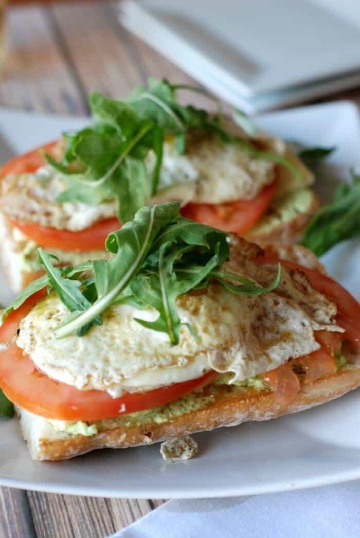Open Faced Fried Egg & Edamame Sandwich !