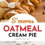 S'mores oatmeal cream pie