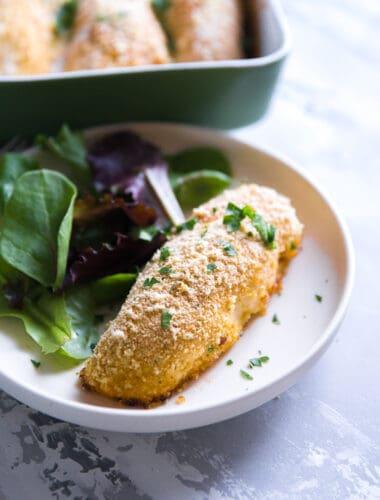 Chicken Kiev plated