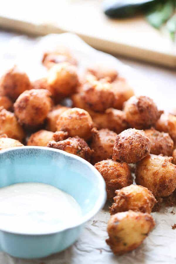 Hush puppies with sauce
