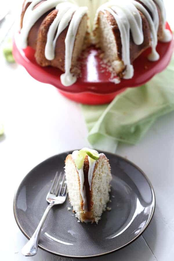 Key lime takes center stage and tequila is the supporting role in this summer inspired bundt cake recipe! lemonsforlulu.com