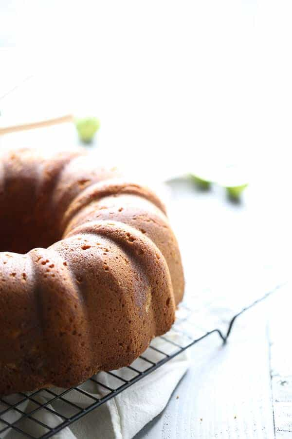 Bundt Cake with Tequila and Key Lime