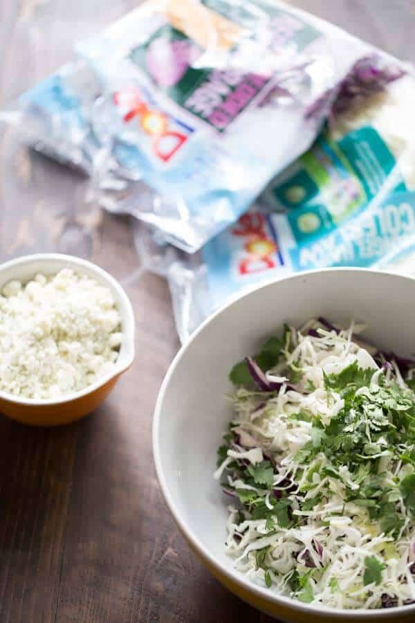 Easy blue cheese coleslaw recipe! lemonsforlulu.com
