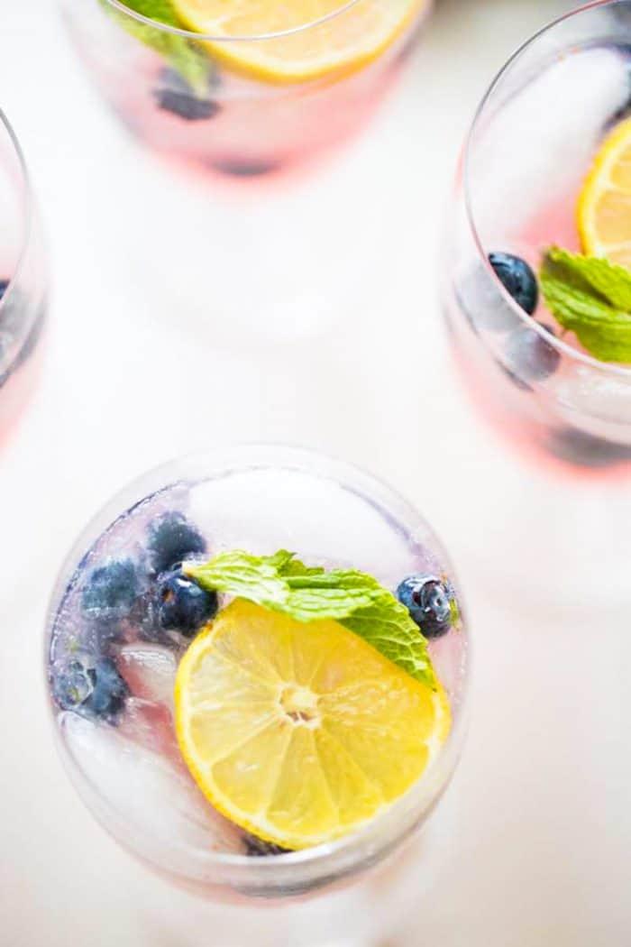 vodka lemonade one glass close up