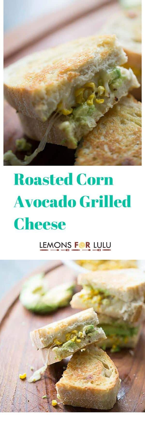 A grilled cheese like no other! Smoky grilled corn, avocados and spicy cheese make this sandwich stand out from the crowd! lemonsforlulu.com