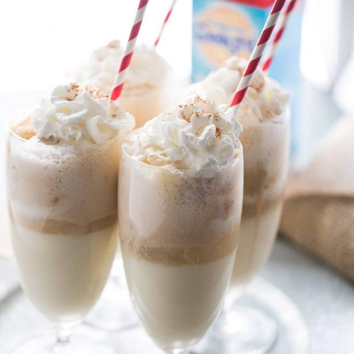 Eggnog Ice Cream Float
