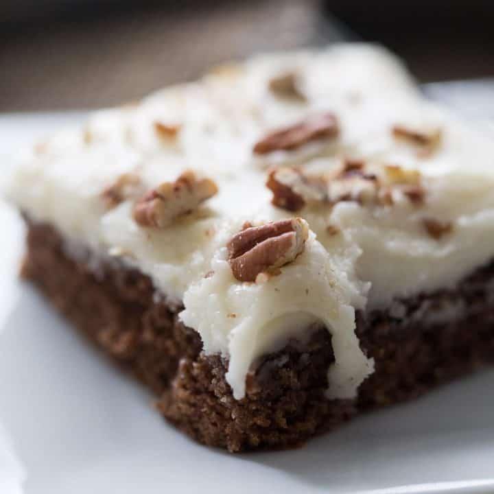 Gingerbread Texas Sheet Cake