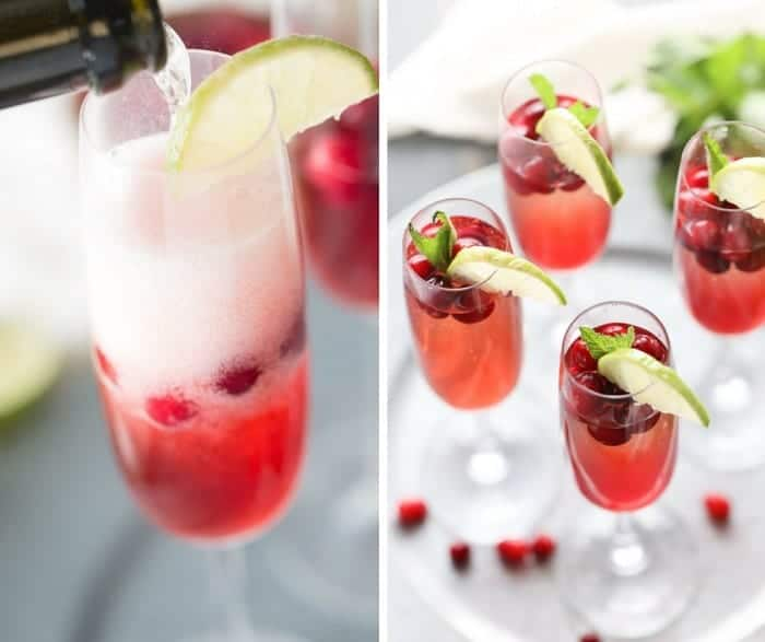 Cape Cod cocktail turned into a fun and festive champagne cocktail! lemonsforlulu.com