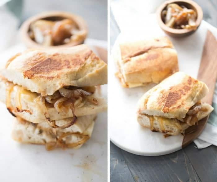 A grilled cheese sandwich that taste remarkeabley similiar to French onion soup! lemonsforlulu.com