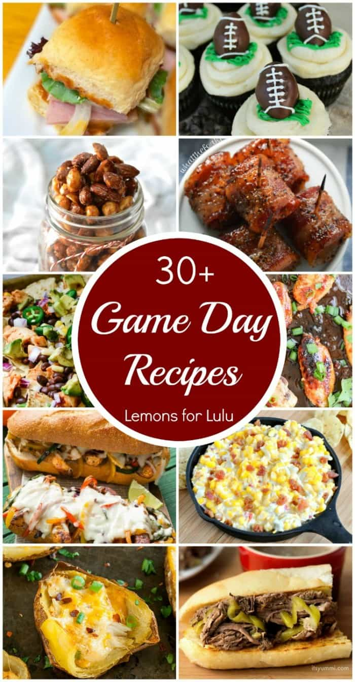 photo collage - over thirty game day recipes!