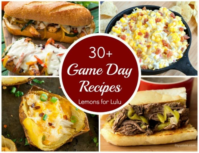 photo collage - 30 game day food recipes