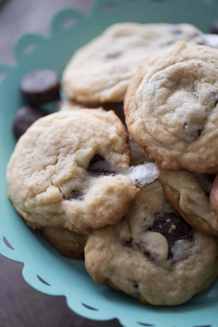 Peppermint Patty's are the star in these easy peppermint patty cookies! These cookies are fabulous with their cool minty flavor and sweet chocolate chips!
