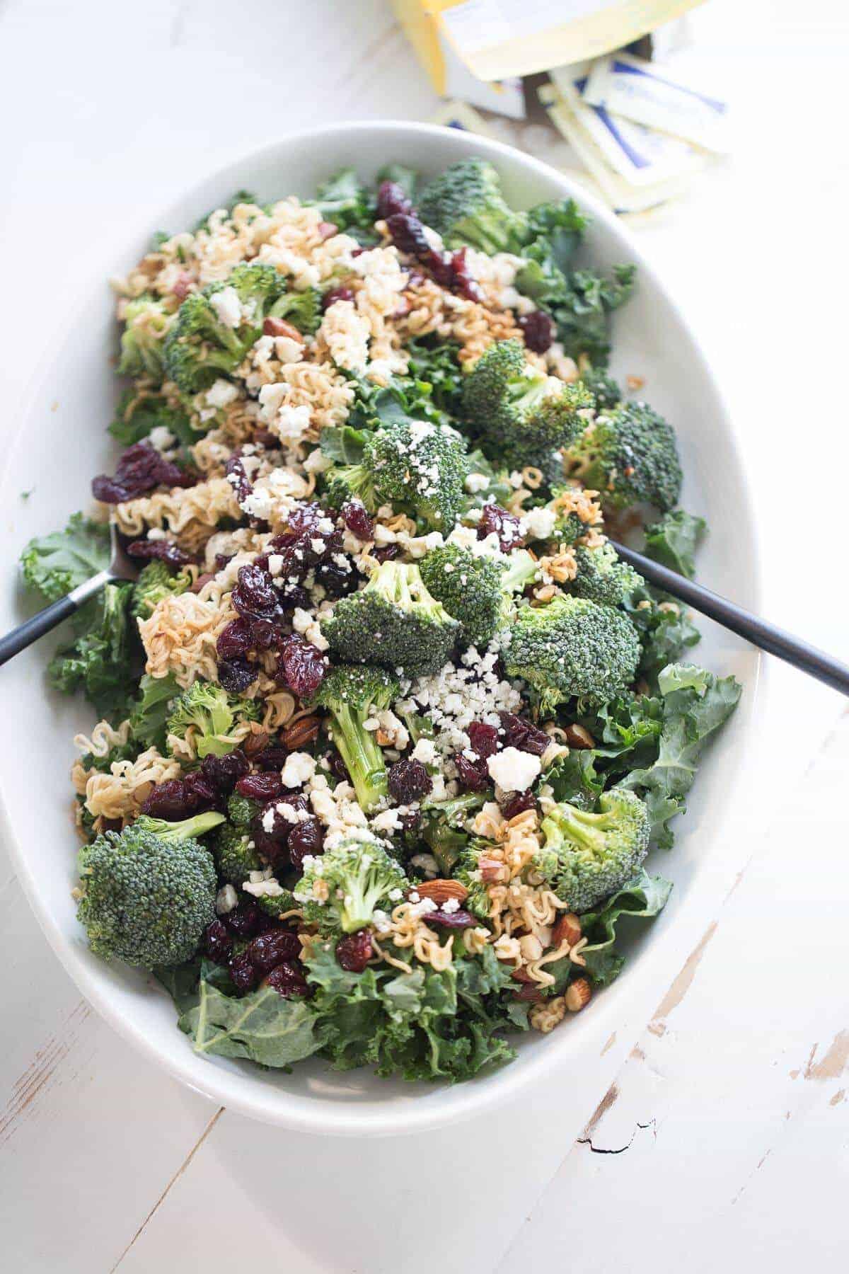 Ramen Broccoli Kale Salad {Lemons for Lulu}