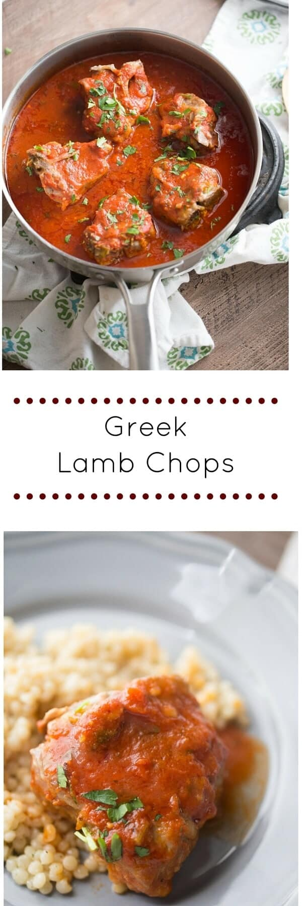 Perfectly seasoned lamb chops are lightly breaded and then slowly simmered in the most flavorful tomato sauce! This Greek style recipe had a deep, rich flavorful that is aboslutlely amazing!