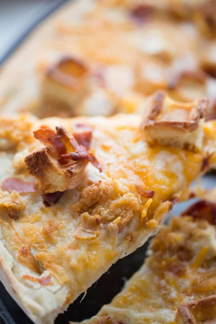Chicken and waffles gets a pizza makeover; and it's delicious!