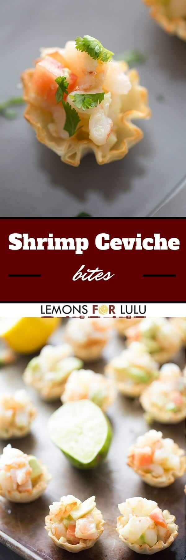 Every party needs simple appetizers and that's exactly what this shrimp ceviche is; simple! It's made with fresh ingredients and tastes so light and refreshing!