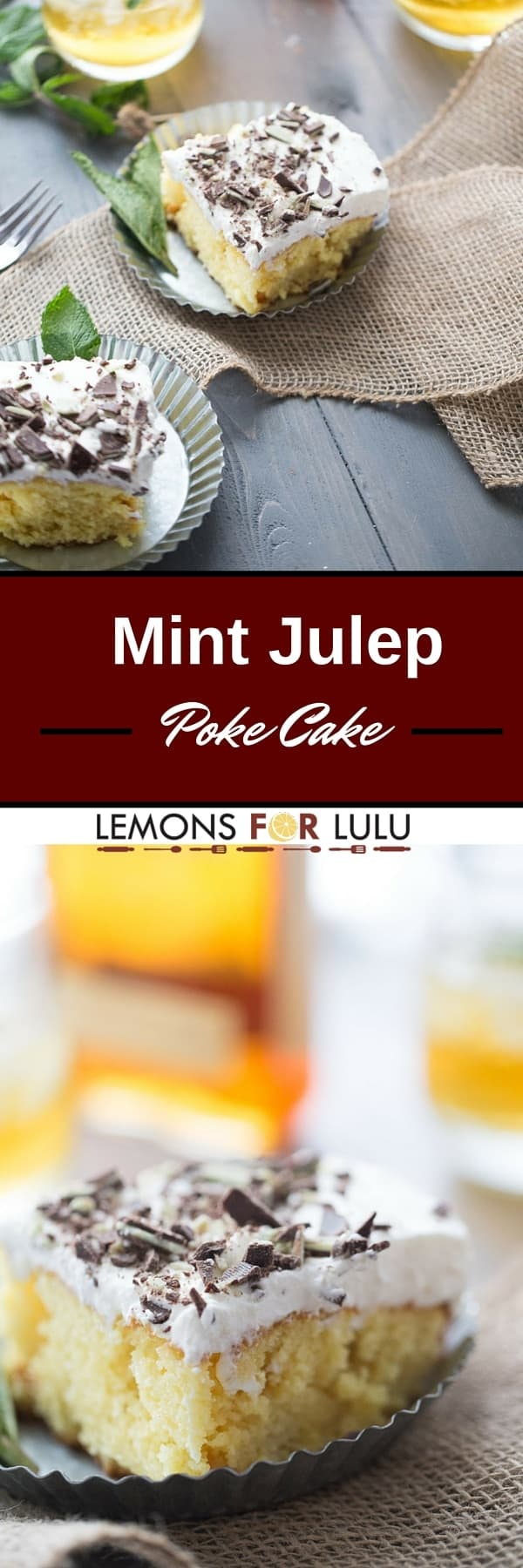 Poke are so simple and come in an endless variety of flavors; this mint julep poke cake recipe takes the classic cocktail and turns it into one memorable dessert!