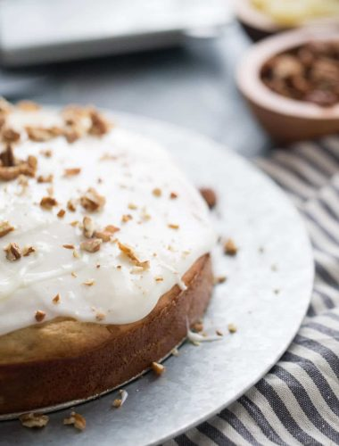 A simple hummingbird cake recipe that is perfect for brunch!