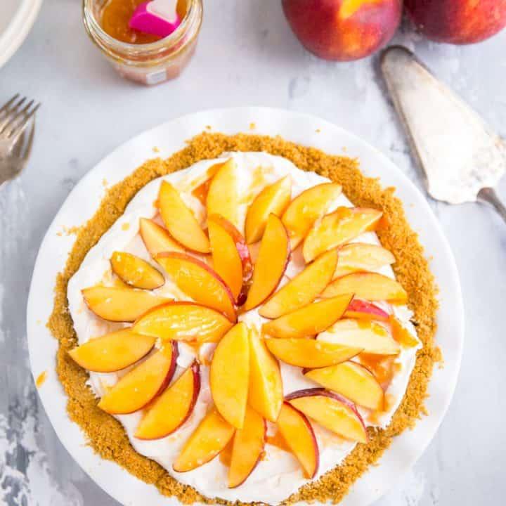 whole peach pie