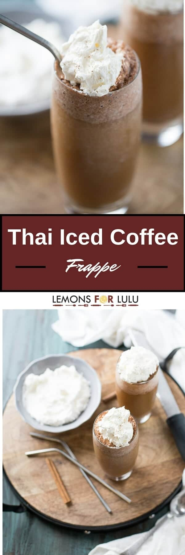 Thai Iced Coffee will you blow you away! This cook, frothy drink features seasoned coffee sweetened with almond milk and whipped cream! It is the perfect pick me up!