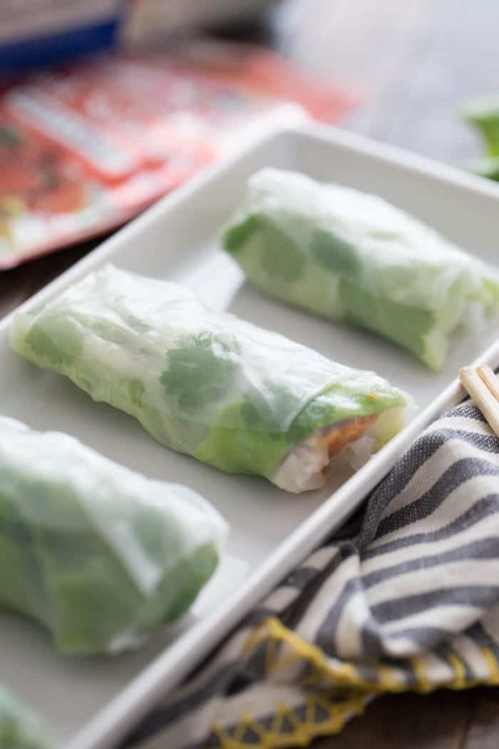 Spring rolls right at home! These salmon filled spring rolls are going to become a staple!