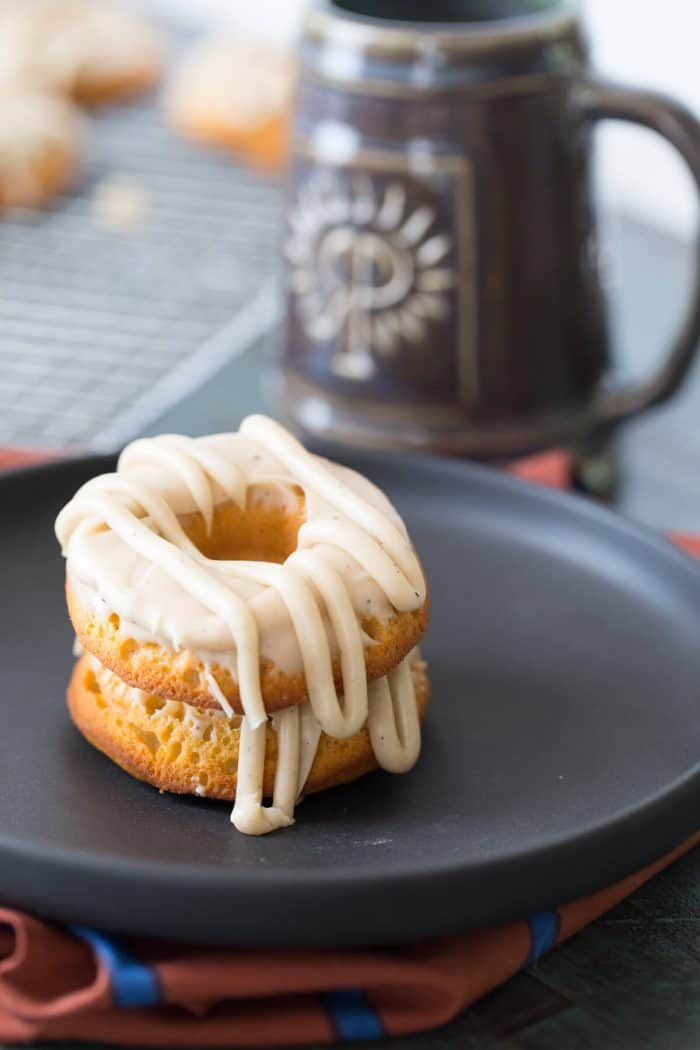 These baked sweet potato donuts are easy and quick! Don't forget about the browned butter frosting!