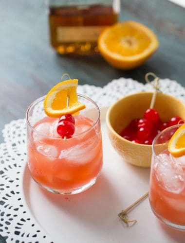 This bourbon daisy is tangy with a hint of sweetness. You need this for your next happy hour!