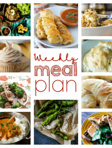 This weekly meal plan gives you all you need to have a simple yet tasty week!