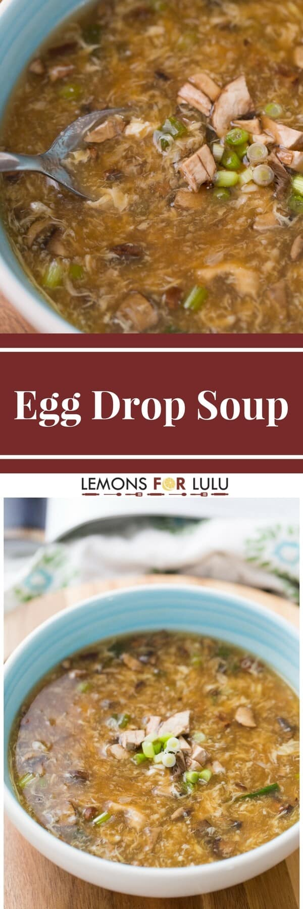 Love egg drop soup? You don't have to go to a restaurant to get it! Make this simple egg drop soup recipe at home!
