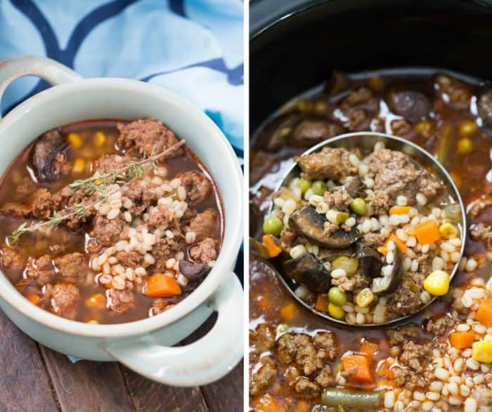 Comfort food at it's best! This beef and barley soup is soul warming!
