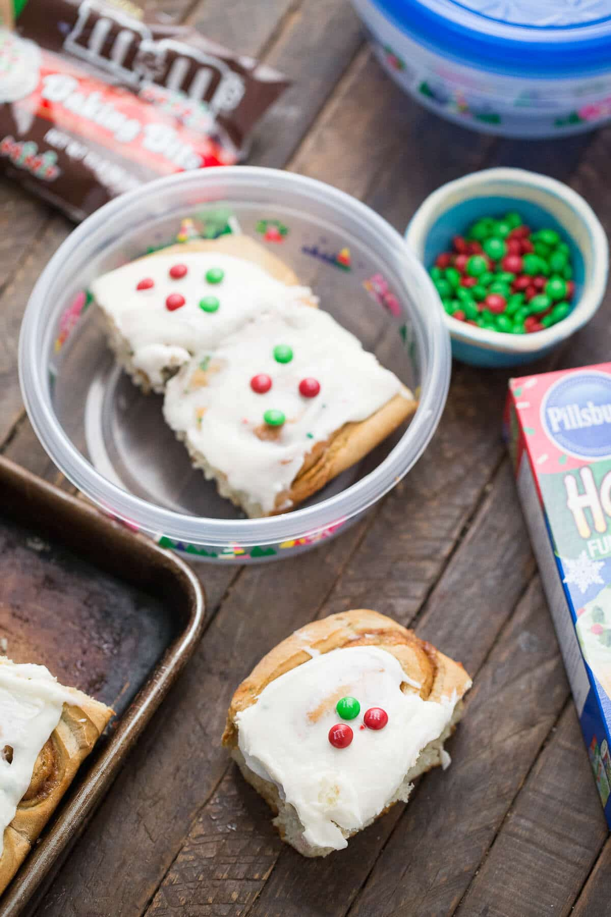 Brighten your mornings with these festive and delicious cake mix cinnamon rolls!