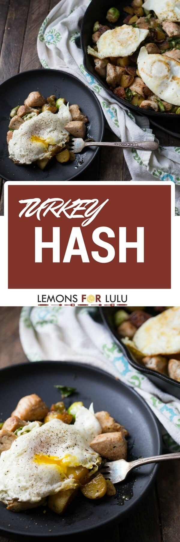 Turkey hash is one of those dishes that can be made with anything you have in the fridge! It's easy and versatile; it takes so good!