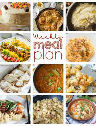 Weekly meal plan just for you!