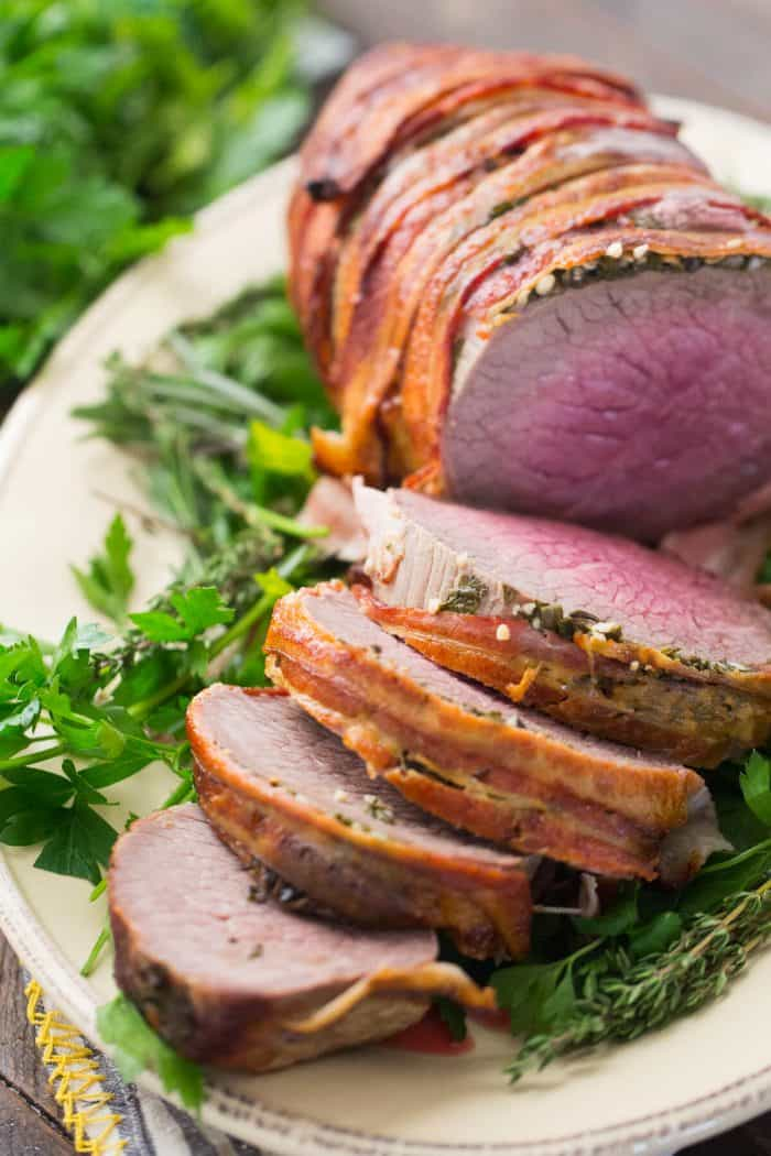 What could be better than beef wrapped in bacon? This eye of round roast is the best!