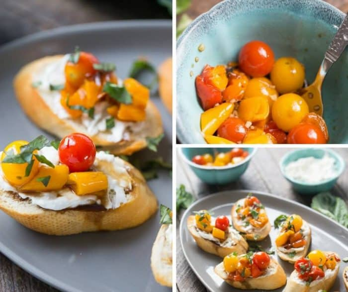 Need an impressive appetizer? Then you need his bruschetta with roasted veggies recipe!