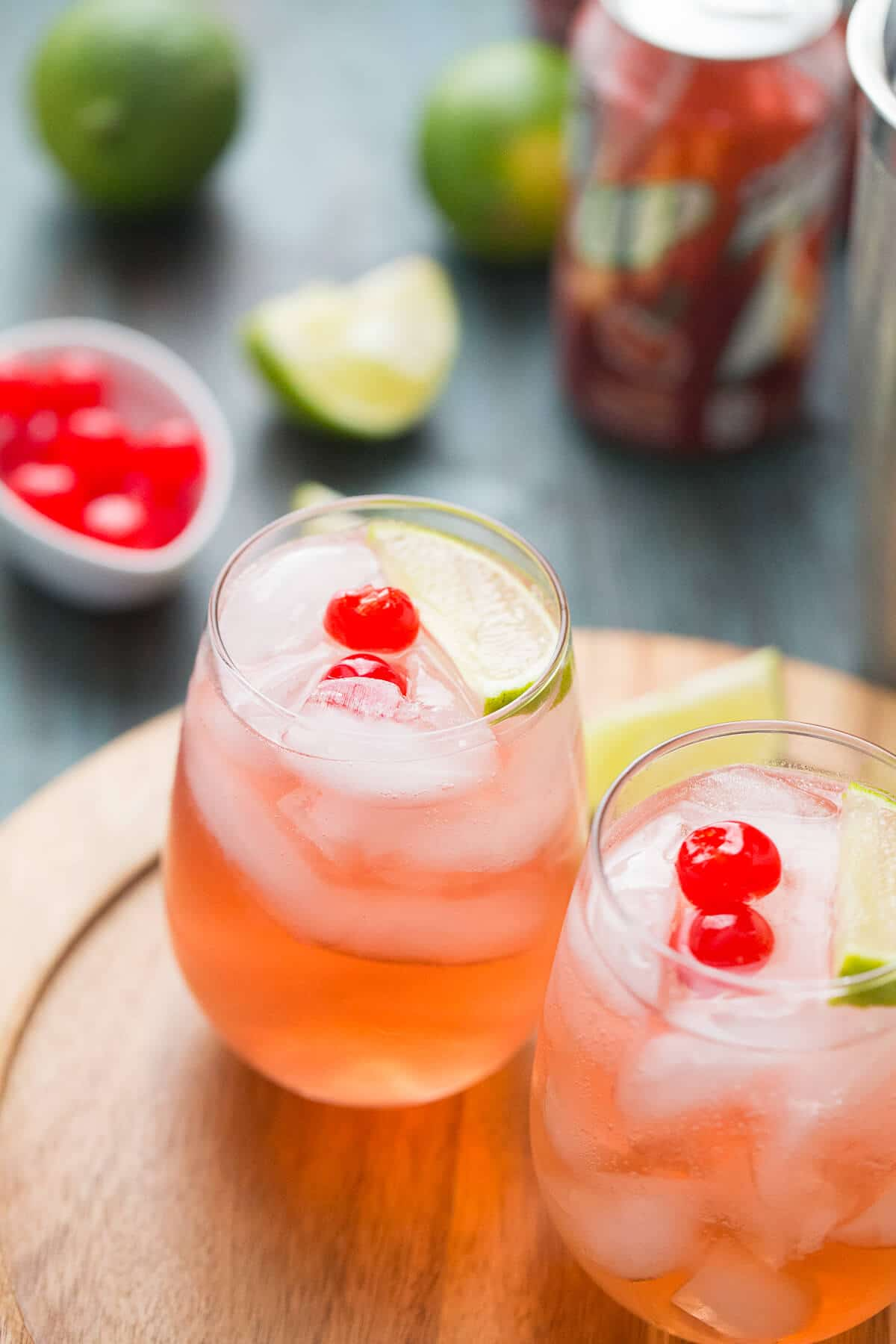 Sour cocktails can make you pucker. This cherry sour has the perfect amount of sweetness added to it!