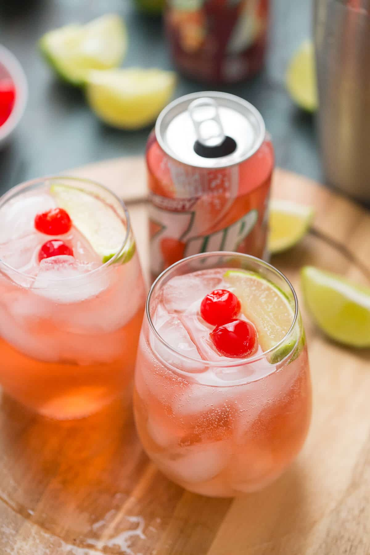 vodka sour with a can of cherry 7Up