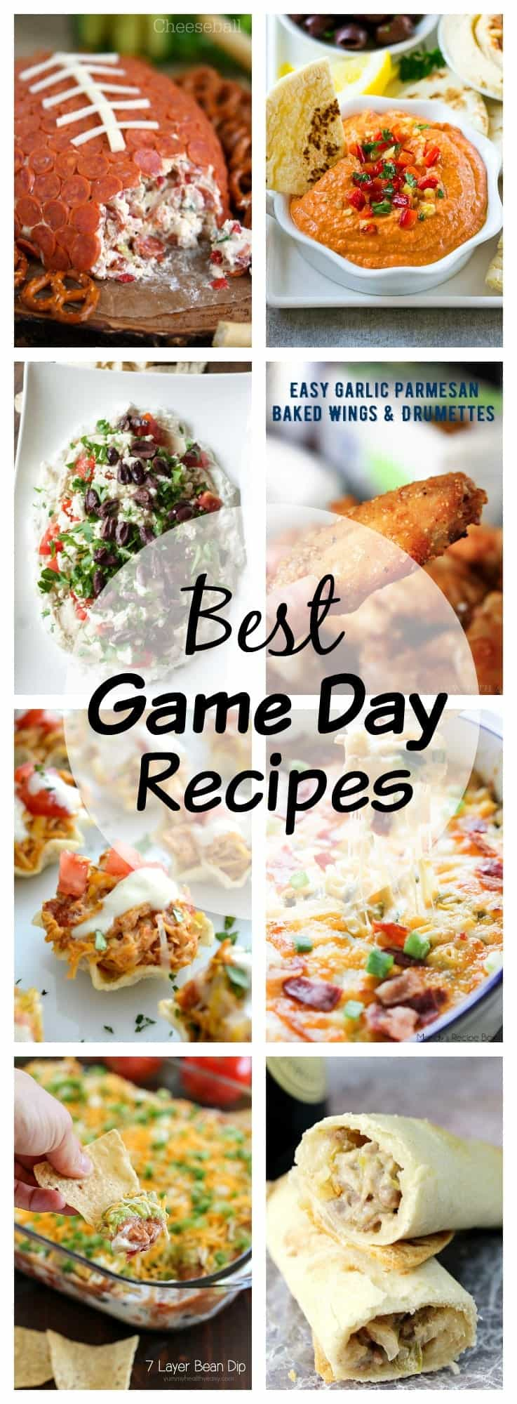 Don't show up empty handed on game day!  This is a collection of the best game day recipes!